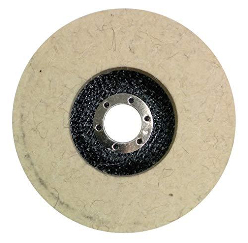 125mm Glanz-Polier Scheibe Polierfächerscheibe Vollrad Vlies