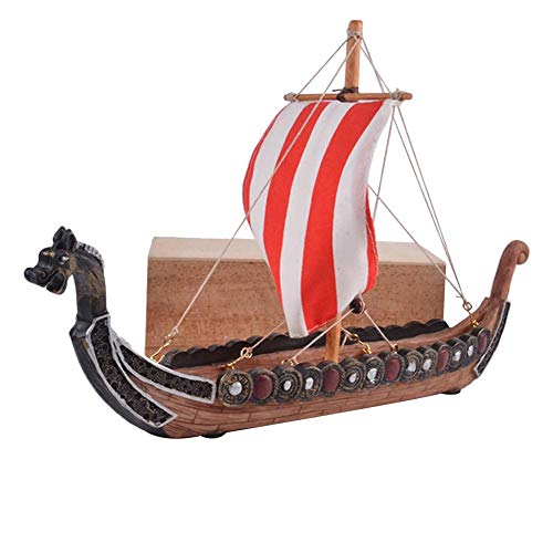 IMCROWN Incense Stick Holder, Innovative Retro Viking Pirate Ship Dragon Boat Incense Board Corsair Decoration for Relatives and Friends Home Decoration Storefronts Hotels