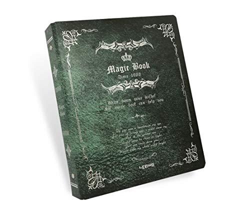 simpatia アンティーク風 ヨーロピアン風 洋書 日記帳 メモ帳 B5 ノート ルーズリーフ (緑)