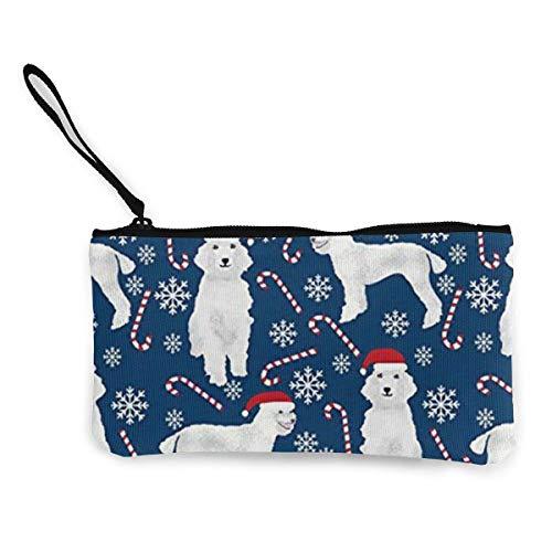 Yuanmeiju Bastoncini di zucchero unisex Simpatici barboncini Cani Portamonete in tela da donna Mini portafoglio con cambio Pouch-Card Phone Wallet Storage Bag
