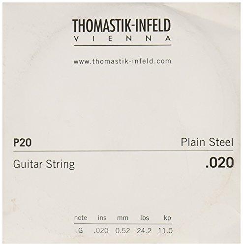 Thomastik cuerda Sol .020 acero liso, latón chapado P20 para Guitarra Eléctrica...