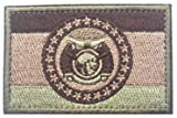 Missouri USA State Flag Tactical Armband Embroidered Patches Badges Morale Tactics Military Embroidery Patch Hook & Loop on The Back