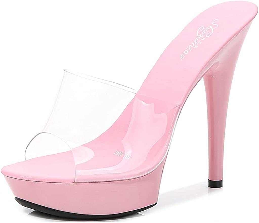 Free shipping on posting reviews GCOCO Women's Platform Cheap sale Stiletto High Heels Transparent Sandals O