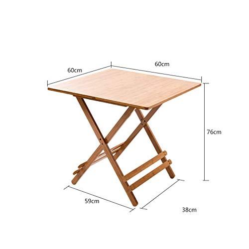 Klaptafel, houten eettafel voor buiten, kleine plantenbak, draagbaar, bureau, decoratie, tafel, 60 x 60 cm