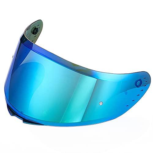 ILM Helmet Accessories Visors Replaceable Face Sheild for Full Face Motorcycle Helmet in Model ILM-Z501(Tinted Visor, Blue)