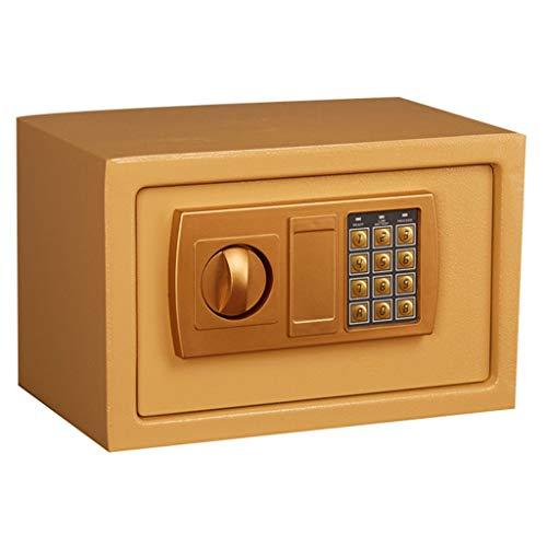 Kluis met numeriek toetsenbord 12,2 x 7,8 x 7,8 inch voor contant geld-opslagkabinet van het Duitse Binnenministerie Gold opbergdoos