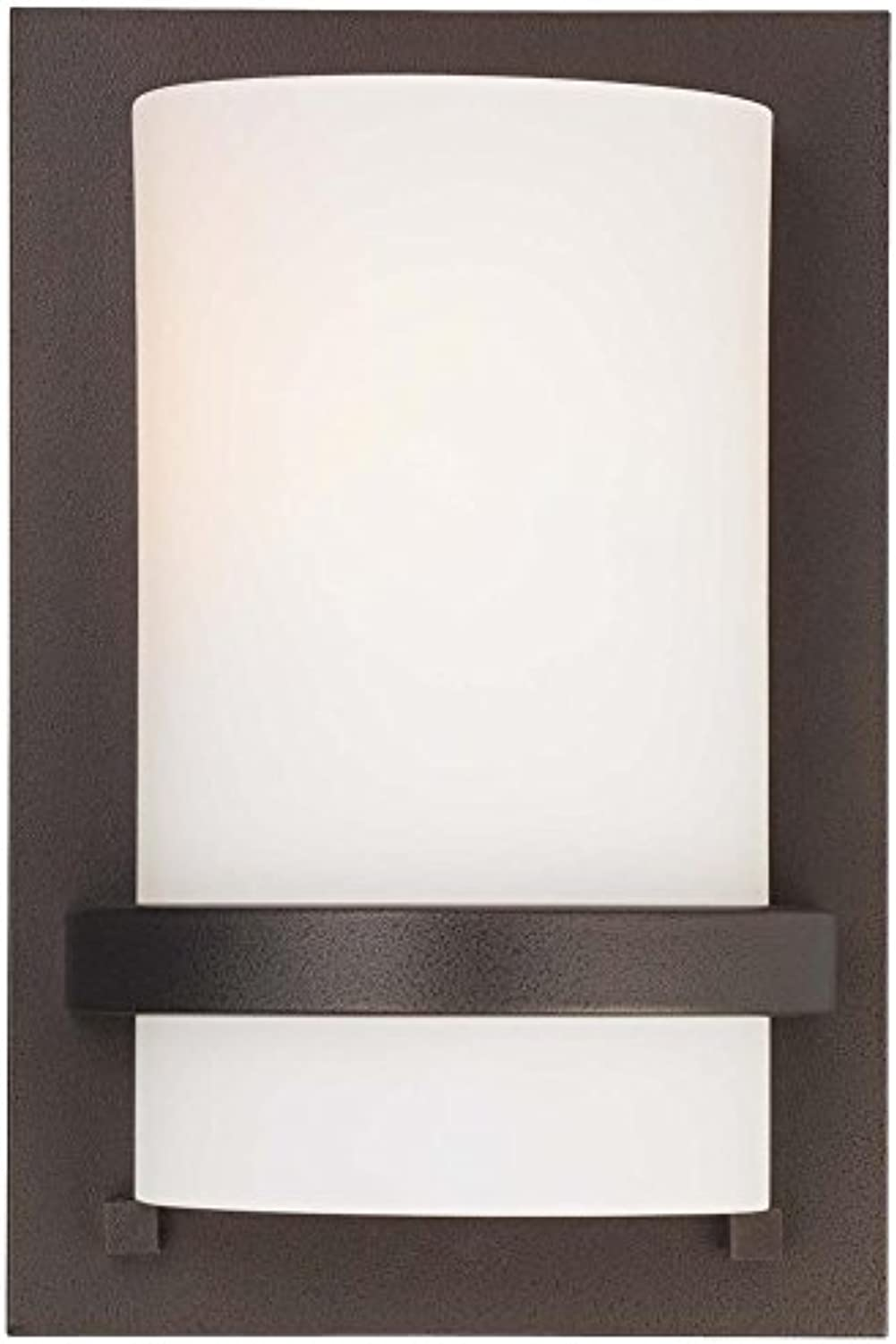 Minka Lavery 342-172 1 Light Wall Sconce, Smoked Iron Finish