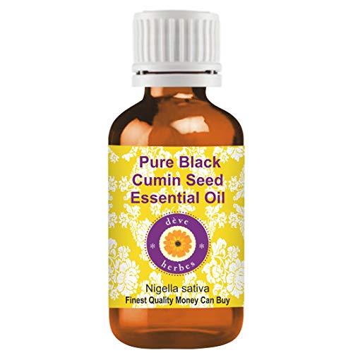 Huile essentielle de graine de cumin noire pure (Nigella sativa) 100% naturelle de qualité thérapeutique distillée à la vapeur 5ml (0.16 oz)
