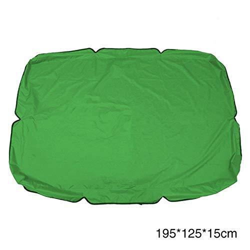 Viner Stoel Luifel Swing Cover Waterdicht Tuin Stofdicht Zonnescherm Vervanging Luifel Slijtvaste Patio, Groen 195x125x15cm