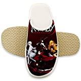 Indoor Slippers Poster RW-by Ruby Grim Cotton Slippers Warm Memory Foam Soft Slip-on Clog House Shoes for Men & Women 14-15B(M) USWomen / 11-12D(M) US Men White