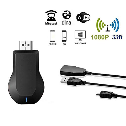 Best Price APPLL Wireless Display Dongle, Portable 2.4G/5G 4K Cast Wireless HDMI TV Stick WiFi Displ...