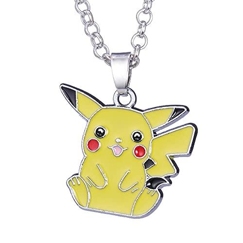 Anime Periférico Joyería Dibujos Animados Pokemon Pikachu Collar Pokémon Pikachu Colgante Accesorios