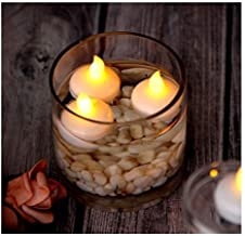 SRB LED Decorative Flame Less Floating Candle Tealight, Floating Electronic Candle for Bath SPA Pray (Warm White) Make in ...
