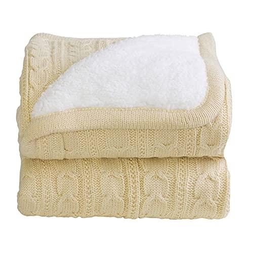 Cobertor Donna Bebê 100x75 cm Lã Kaki com Sherpa