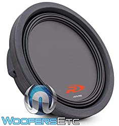 Alpine Swr-t10 10-Inch 1800 Watt 4 Ohm Shallow Mount Subwoofer