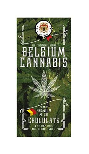 Belgium cannabis chocolate with hemp seeds - MILK 80 g