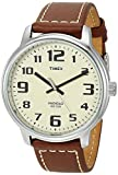 Timex Men's Easy Reader 43mm Analog Quartz Leather Strap, Brown, 20 Casual Watch (Model: TWH4Z95109J)