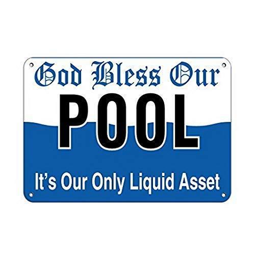 TammieLove - Warnschilder für Pools in TinSign7223, Größe 8X12 INCHES