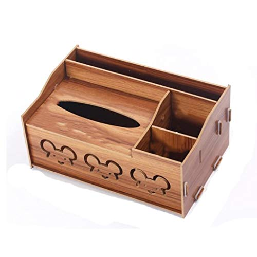 ZHENYANG Tejido Cubierta de la Caja, Caja de almacenaje de bambú