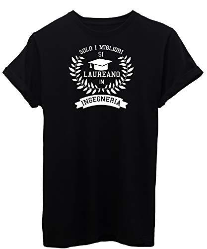iMage T-Shirt Laurea Ingegneria università Regalo Laureato - Eventi - Donna-L-Nera