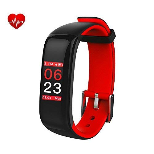 Activity Tracker Sport Braccialetto Intelligente Impermeabile Nuoto Cardio,Braccialetto Fitness con Touchscreen Colori,Pressione Sanguigna,Contapassi,Cronometro,Smartwatch Bluetooth perAndroid&iOS
