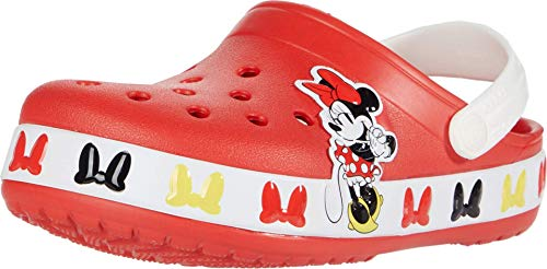 Crocs Baby Kid's Disney Minnie Mouse Clog|Water Shoe for Toddlers, Boys, Girls, Flame, C4 M US