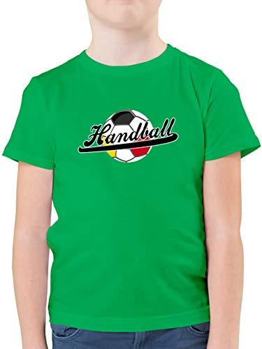 Handball WM 2021 Kinder - Handball Deutschland - 116 (5/6 Jahre) - Grün - Handball Tshirt - F130K - Kinder Tshirts und T-Shirt für Jungen
