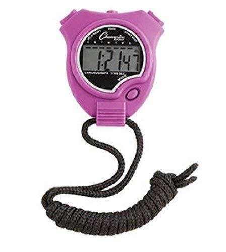 Champion All Sports Run Walk Track & Field Stopwatch Timer Daily Alarm Purple
