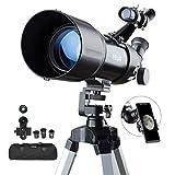 ESSLNB Telescope Astronomique 40080 Telescope Astronomique Adulte avec 10X Adaptateur Téléphonique...
