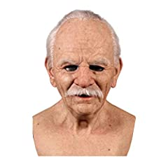 Our highly detailed and very realistic old man m-ask can be worn as a scary Halloween m-ask, or as a dummy in any horror game. It can definitely scare anyone, be it a masquerade, carnival, Christmas, Easter, Halloween or The best choice for role-play...