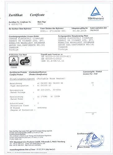 Veito 20131001 Carbon Infrarot-Standheizstrahler CH1800 XE - 3