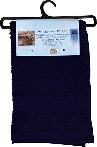 Toalla de rizo de algodón 100% hidrófilo absorbente toalla de invitados toalla de baño de cara de bidé de ducha (invitados 40 x 60 cm, azul noche)