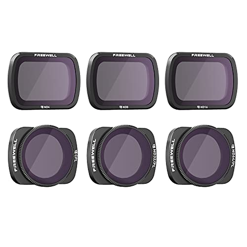 Freewell Budget Kit –E Series - 6Pack ND4, ND8, ND16, CPL, ND32/PL, ND64/PL Camera Lens Filters Compatible with Osmo Pocket, Pocket 2