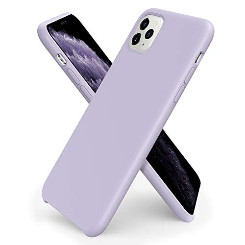 ORNARTO kompatibel mit iPhone 11 Pro Silikon Hülle, Hülle Ultra Dünne Flüssig Silikon Handyhülle Schutz für iPhone 11 Pro (2019) 5,8 Zoll -Helles Lila