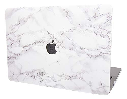 YYPP Laptop Case for MacBook Plastic Case Hard Shell Cover Air 13' Retina (2020/2019/2018, Touch ID) A2179/A1932 (White Marble)