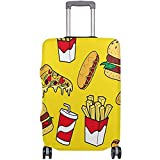 Fast Foods Colorful Doodleuggage Coveruitcasepandex Travel Protector Talla M