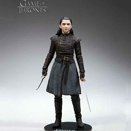 Byrhgood HBO Figura: Juego de Tronos Arya Stark Acción figurs (Armas Can) Formulario de Home Box Office Colección Figura 18cm