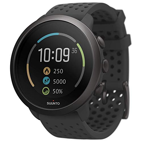 Suunto 3, Sports Watch with Wrist-Based Heart Rate, 24/7 Fitness Activity and Recovery Tracking - Slate Grey