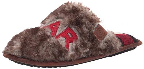 Dearfoams Men's Papa Bear Slipper, Brown Frost, Large