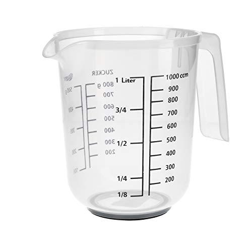 RoyalFay® Messkanne Messbecher 1L Kunststoff Liter und Gramm Skala