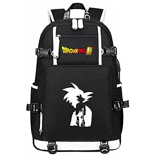 Japón Anime Dragon Ball Mochila Backpack Hombros Bolsa para Estudiantes Paquete De Bolsa De Libros Negro