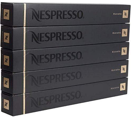 New Original Nespresso Ristretto Flavour Coffee 50 Capsules Pods 5 Sleeves Long Expiry