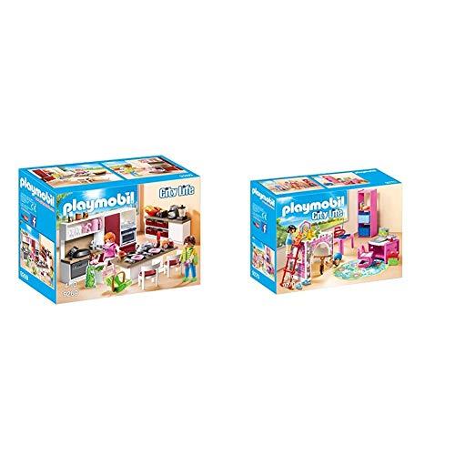 PLAYMOBIL City Life Cocina, a Partir de 4 Años (9269) + City Life Habitación Infantil, a Partir de 4 Años (9270)