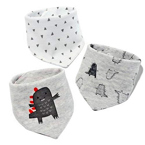 Sccarlettly Living House Baby Triangle Serviette Chic Casual Salive Serviette Coton Bavette Double Face Sac Écharpe Enfant Automne Et Hiver 3Pcs Ensemble (Couleur A) (Color : C, Size : Size)