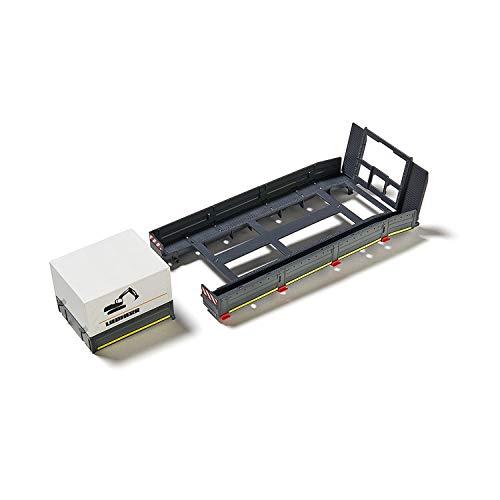 SIKU 6714, platformopbouw voor SIKU Control Tiefflader, 1:32, kunststof, zwart, incl. Ringen, platform en dekzeil, voor de SIKU Control Set: MAN trekker met diepflader