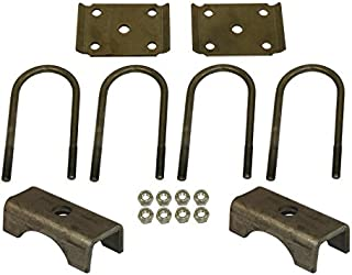 U-Bolt Mounting Kit for 6,000 lb / 7,000 lb Trailer Axles with 3 Inch Round Tube Diameter
