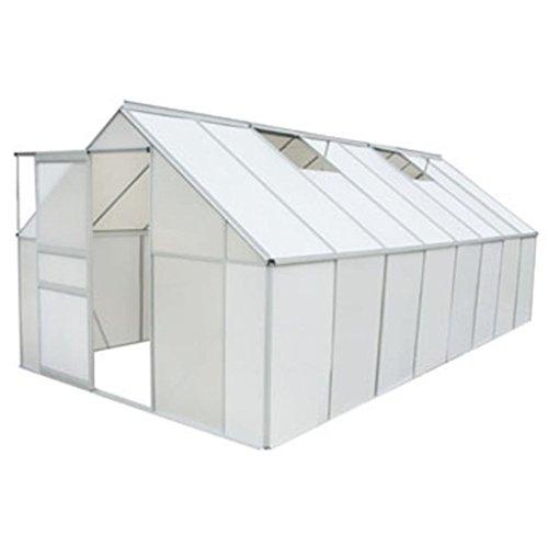 vidaXL Gewächshaus 12,25 m² mit 4 mm Stegplatten
