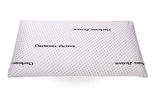 elalmacendelcolchon Almohada Viscoelástica Modelo Carbono Perforada, Máxima Adaptabilidad, Blanca - 90 cm - Otras Medidas Disponibles