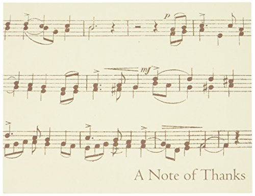 Design Design Vintage Music Notes Thank You Note Cards 20 Count 119-04033