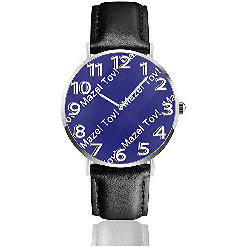Horloge Polshorloge Mazel Tov Classic Casual Quartz Zwart Lederen Band Horloge Zakelijke Horloges
